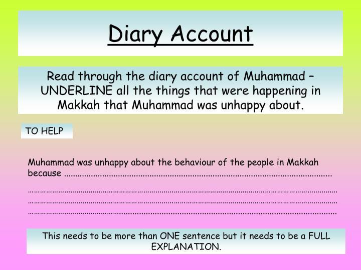 Diary Account