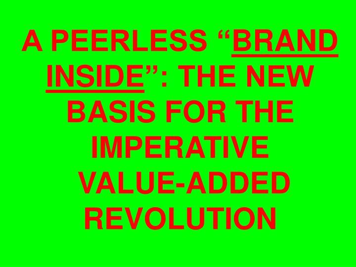 "A PEERLESS """