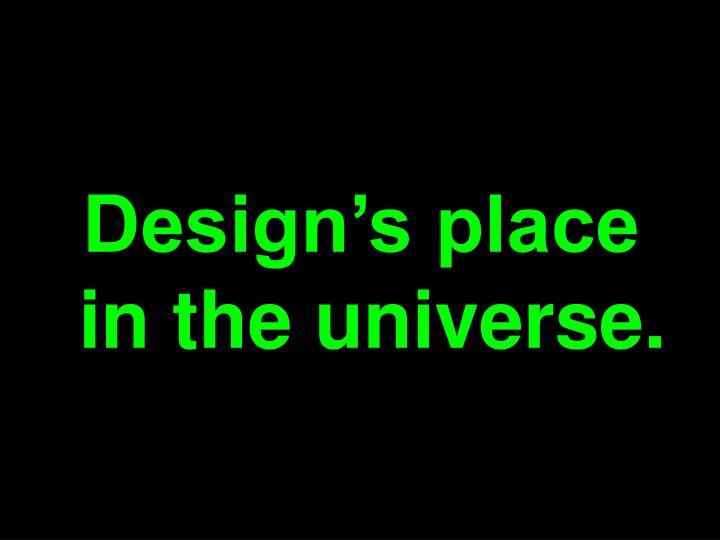 Design's place