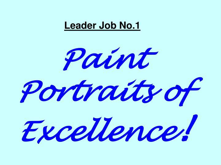 Leader Job No.1