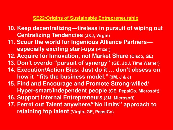 SE22/Origins of Sustainable Entrepreneurship