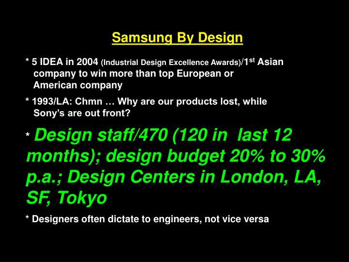 Samsung By Design