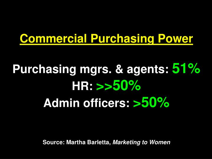 Commercial Purchasing Power