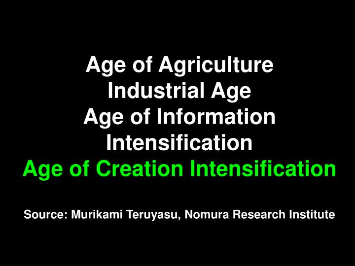 Age of Agriculture