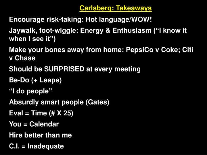 Carlsberg: Takeaways