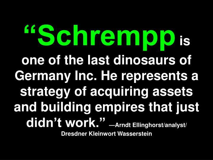 """""""Schrempp"""