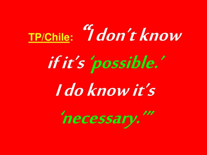 TP/Chile