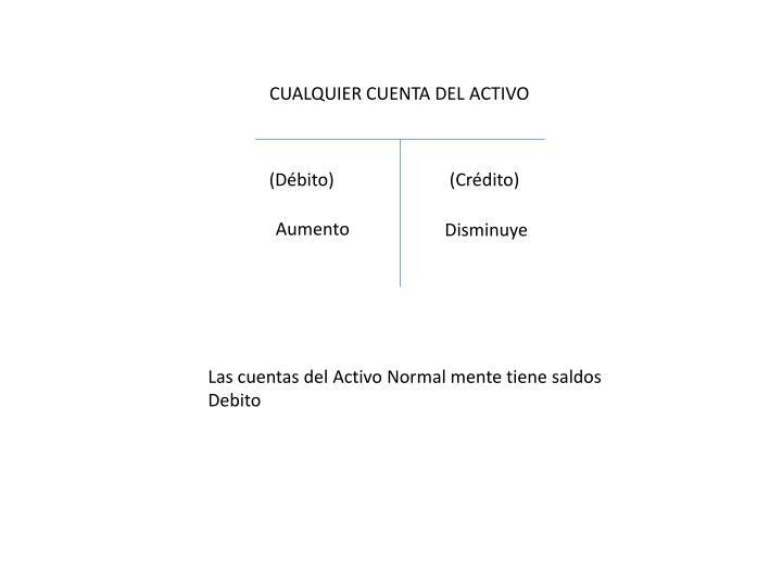 CUALQUIER CUENTA DEL ACTIVO