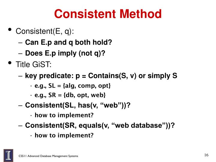Consistent Method
