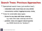 search trees previous approaches
