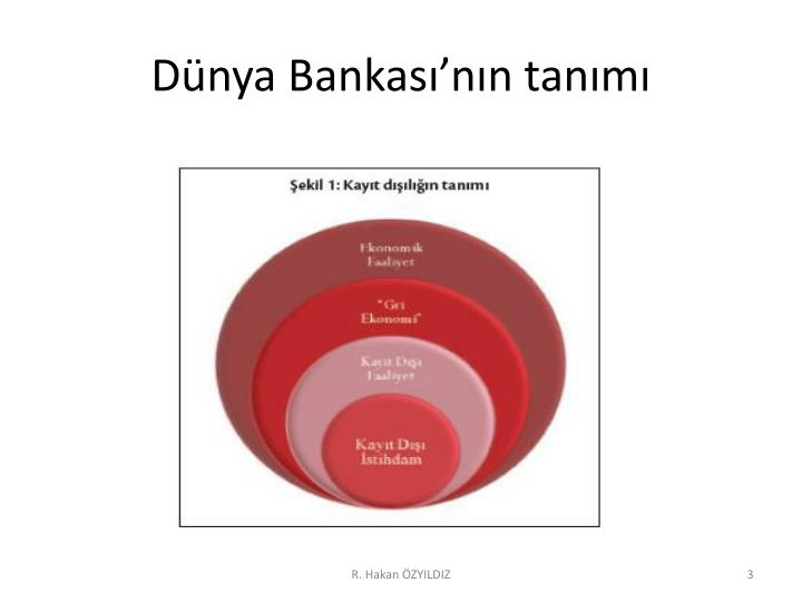 Dünya Bankası'nın tanımı