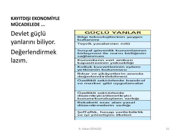 KAYITDIŞI EKONOMİYLE MÜCADELEDE ...