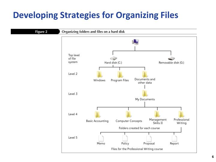 Developing Strategies for Organizing Files