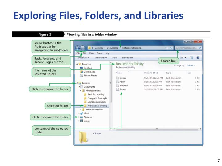 Exploring Files, Folders, and Libraries