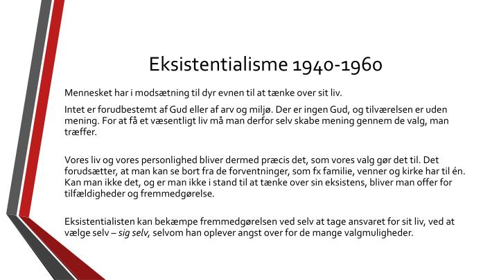 Eksistentialisme 1940-1960