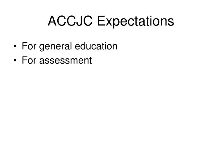 ACCJC Expectations