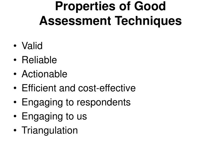 Properties of Good