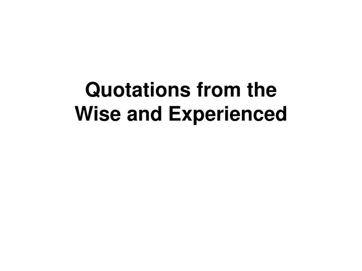 Quotations from the