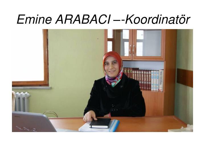 Emine ARABACI –-Koordinatör