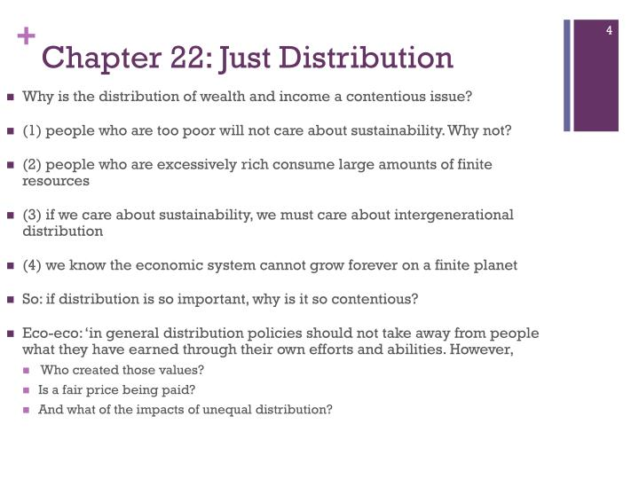 Chapter 22: Just Distribution