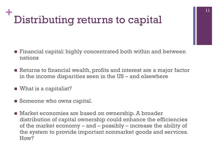 Distributing returns to capital