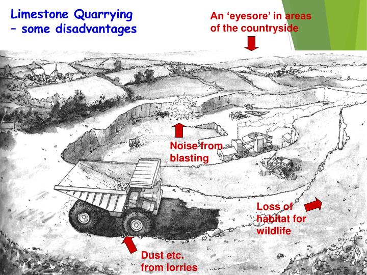Limestone Quarrying – some disadvantages