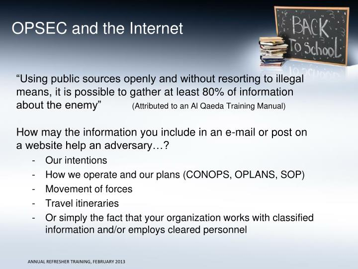 OPSEC and the Internet