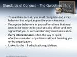 standards of conduct the guidelines