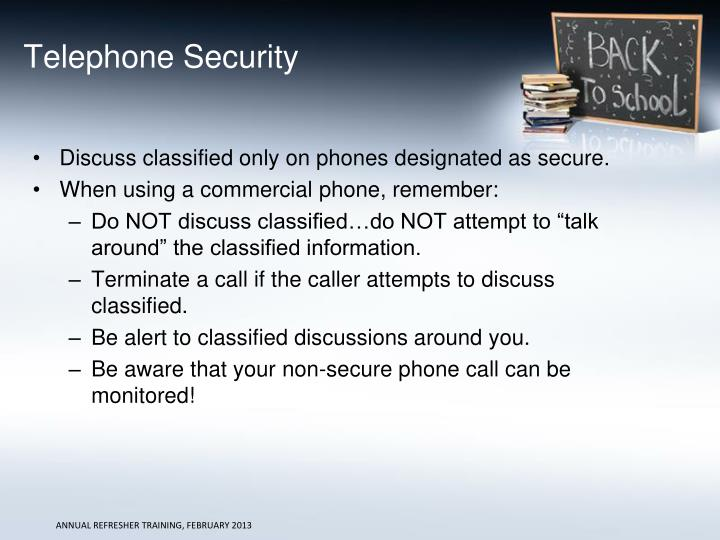Telephone Security