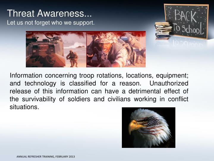 Threat Awareness...
