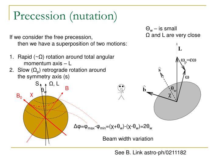 Precession (nutation)
