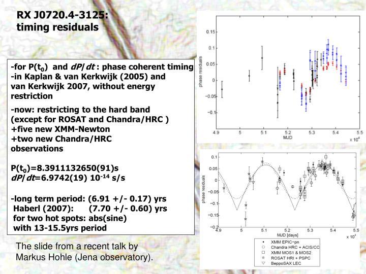 RX J0720.4-3125: