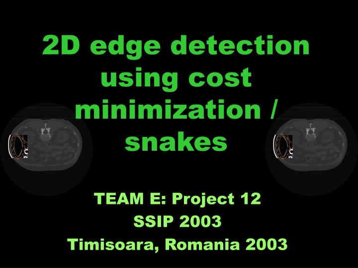2d edge detection using cost minimization snakes