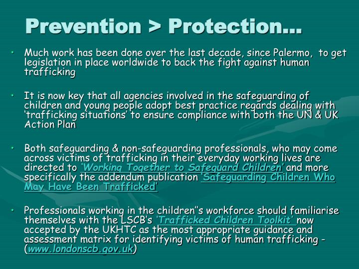 Prevention > Protection…