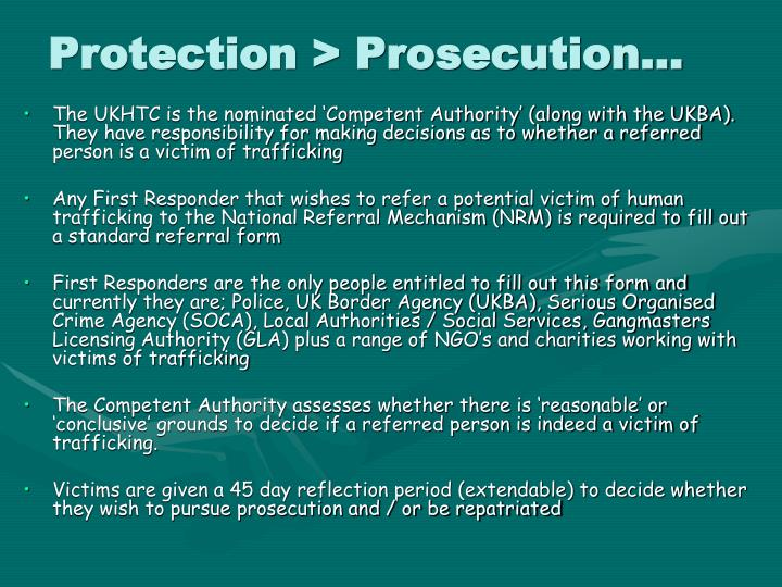 Protection > Prosecution…