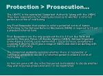 protection prosecution