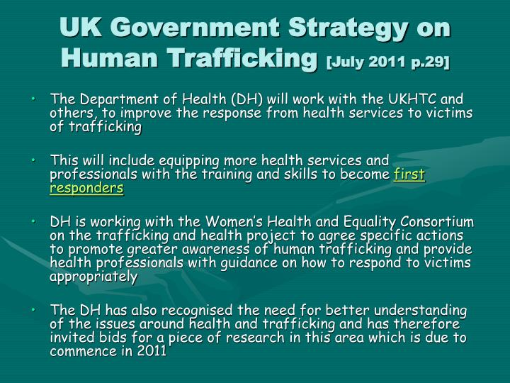 UK Government Strategy on Human Trafficking