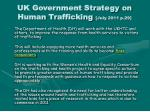 uk government strategy on human trafficking july 2011 p 29