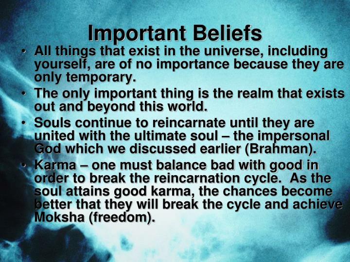 Important Beliefs