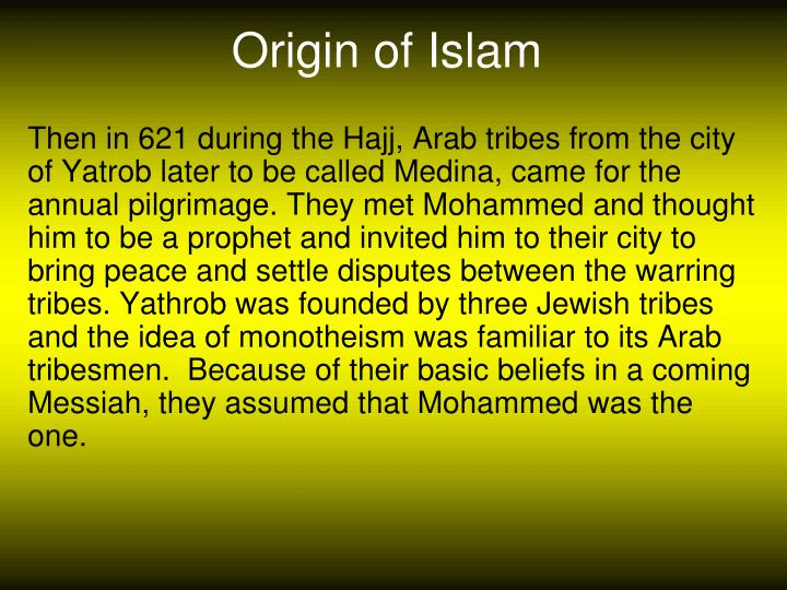 Origin of Islam