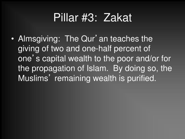 Pillar #3:  Zakat