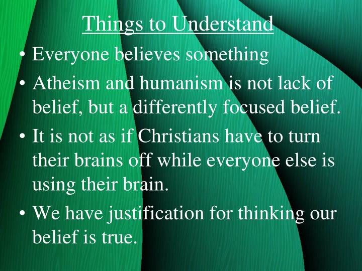 Things to Understand