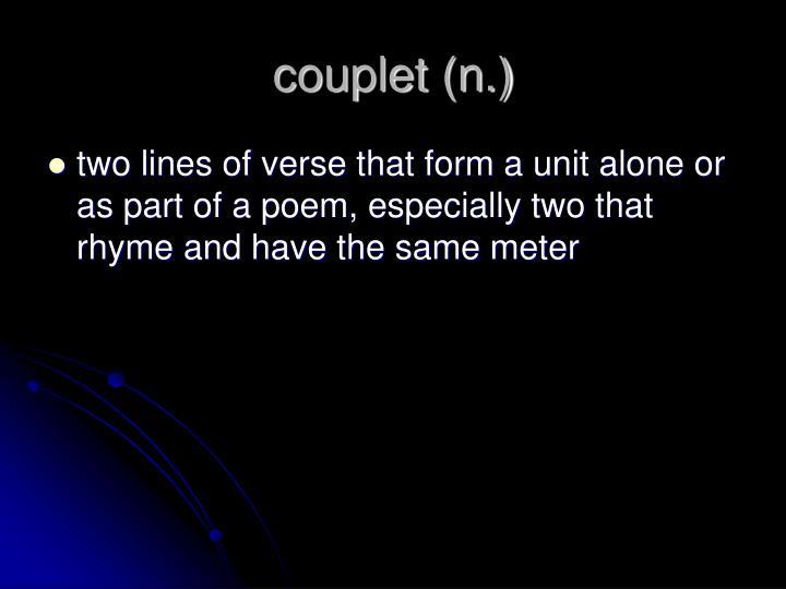 couplet (n.)