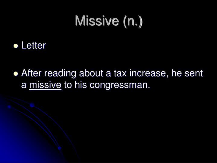 Missive (n.)