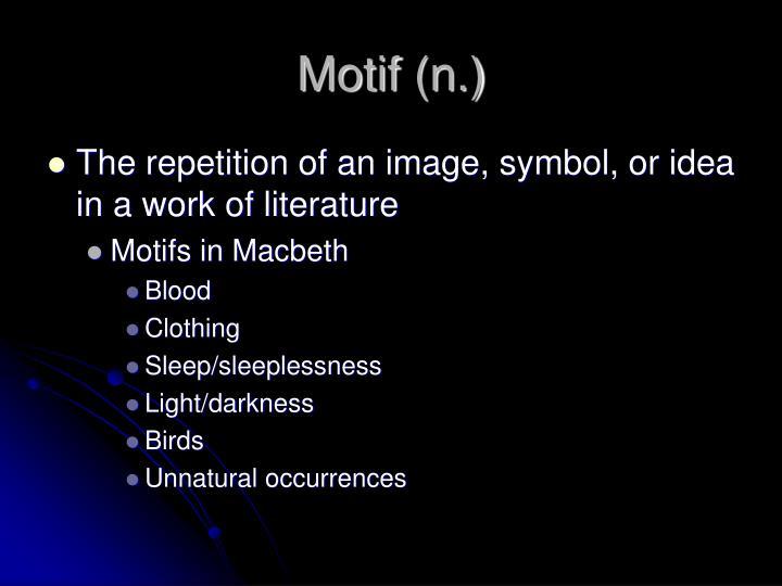 Motif (n.)