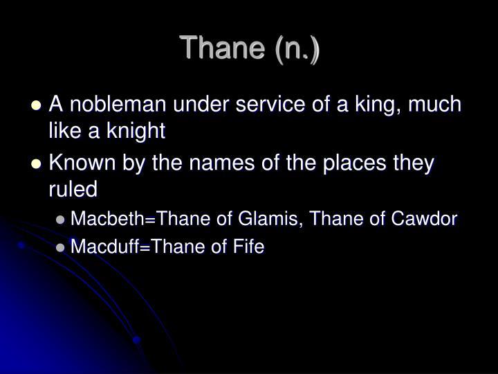 Thane (n.)