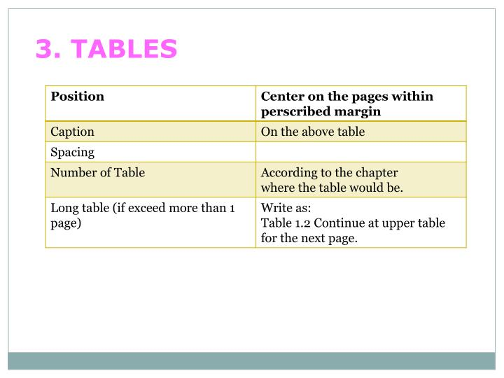 3. TABLES
