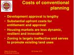 costs of conventional planning