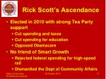 rick scott s ascendance