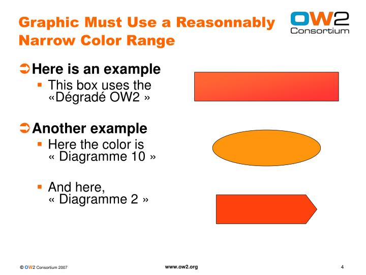 Graphic Must Use a Reasonnably Narrow Color Range